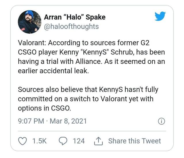 CS:GO - kennyS chính thức lên tiếng giữa tin đồn chuyển sang thi đấu chuyên nghiệp Valorant - Ảnh 3.