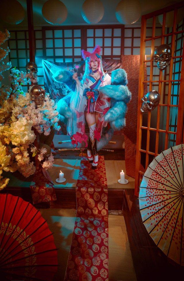 Ngất trên giàn quất với loạt ảnh cosplay Ahri Chiêu Hồn Thiên Hồ do mỹ nhân người Việt hóa thân - Ảnh 7.