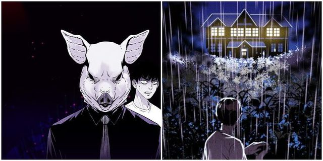 Top 10 webtoon kinh dị Pigpen-webtoon-cover-art-with-nameless-man-and-a-mansion-on-the-island-1615367392776383936660