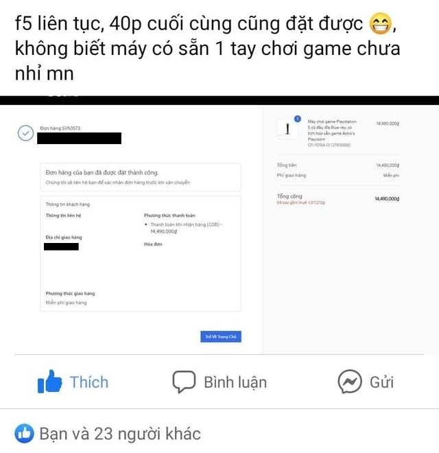 Cộng đồng game thủ Việt thất vọng khi không mua được PS5 đúng giá - Ảnh 2.