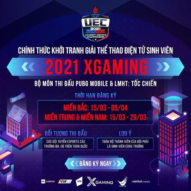Giải Thể thao điện tử Sinh viên 2021 Xgaming chính thức khởi tranh - Ảnh 1.