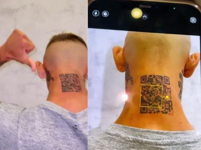 Hào hứng xăm mã QR lên gáy để kêu gọi người follow Instagram, nam thanh niên hào hứng được một tháng rồi tắt ngúm - Ảnh 1.
