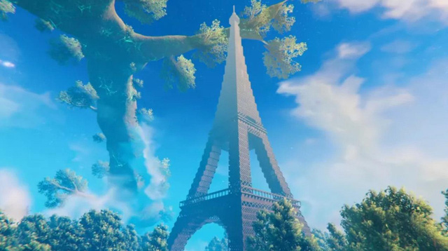 Game thủ tái hiện tòa tháp Eiffel vô cùng đồ sộ, tráng lệ trong Valheim - Ảnh 1.