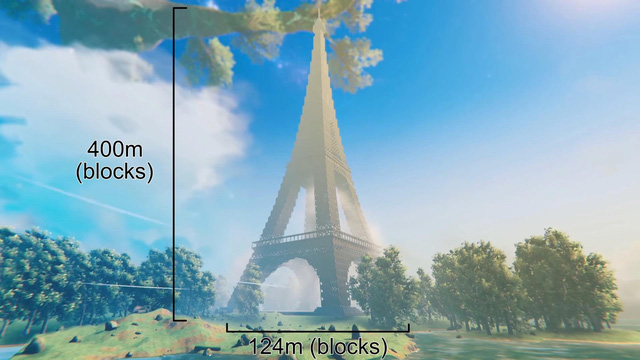 Game thủ tái hiện tòa tháp Eiffel vô cùng đồ sộ, tráng lệ trong Valheim - Ảnh 3.