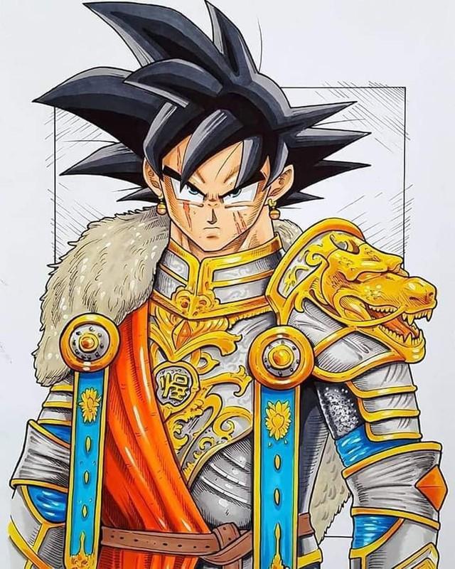 Dàn nhân vật chính Dragon Ball bất ngờ hóa hiệp sĩ Trung Cổ ngầu đét ai nhìn cũng mê - Ảnh 1.
