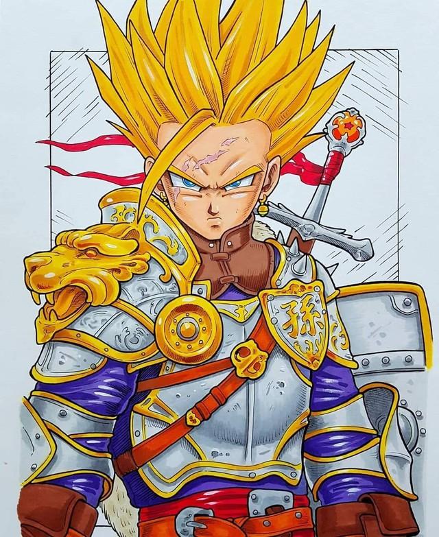 Dàn nhân vật chính Dragon Ball bất ngờ hóa hiệp sĩ Trung Cổ ngầu đét ai nhìn cũng mê - Ảnh 3.