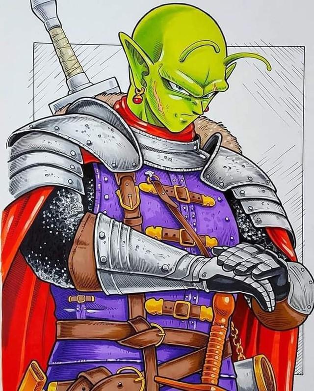 Dàn nhân vật chính Dragon Ball bất ngờ hóa hiệp sĩ Trung Cổ ngầu đét ai nhìn cũng mê - Ảnh 5.
