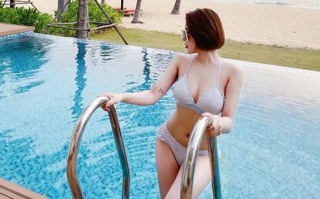 Khoe sắc với bikini quyến rũ, hot girl Trâm Anh khiến CĐM bất ngờ với vóc dáng chuẩn chỉnh - Ảnh 2.