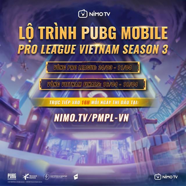 Giải đấu PUBG Mobile Pro League Việt Nam Season 3 chính thức khởi tranh: Giải thưởng khủng, phát sóng trực tiếp tại Nimo TV - Ảnh 2.
