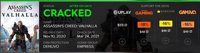 Sau nửa năm ra mắt, bom tấn Assassins Creed Valhalla chính thức bị crack - Ảnh 2.