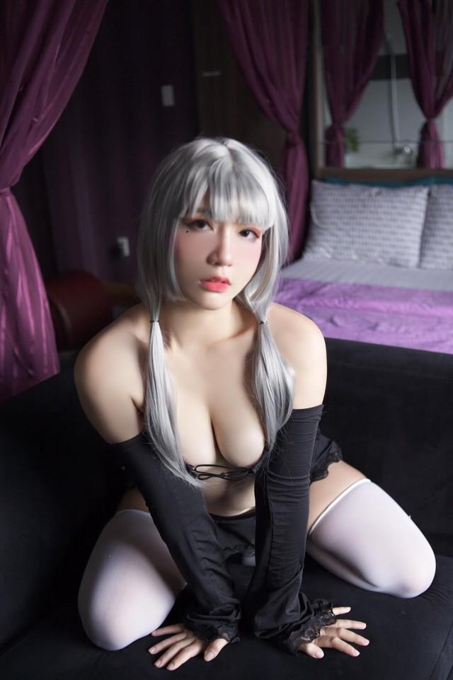 Đại hội khoe ngực giữa tuần từ giới cosplay: Hot girl 2K2 cực bốc nhưng vẫn không so nổi độ phồn thực của loạt mỹ nữ Gun Gun này - Ảnh 18.