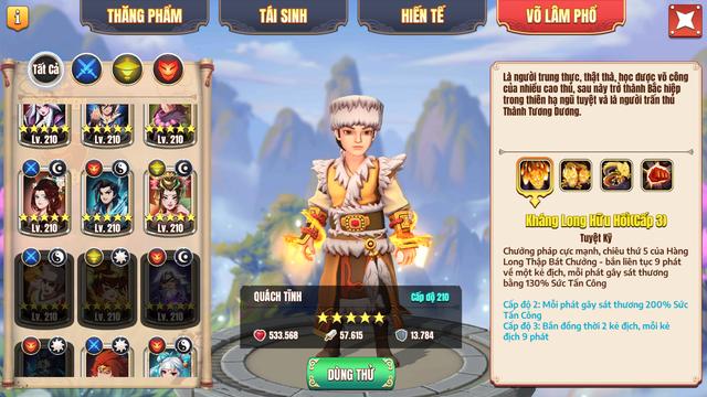 Duy nhất 3 ngày! Nông dân Tân Minh Chủ sẽ sở hữu 3 tướng hiếm nhất game: Cày chay có Quách Tĩnh 5 sao, vào ngay kẻo hối hận - Ảnh 3.
