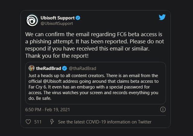 Nhiều game thủ vui mừng vì nhận được lời mời chơi thử Far Cry 6 miễn phí, tuy nhiên đây chỉ là trò lừa đảo - Ảnh 2.