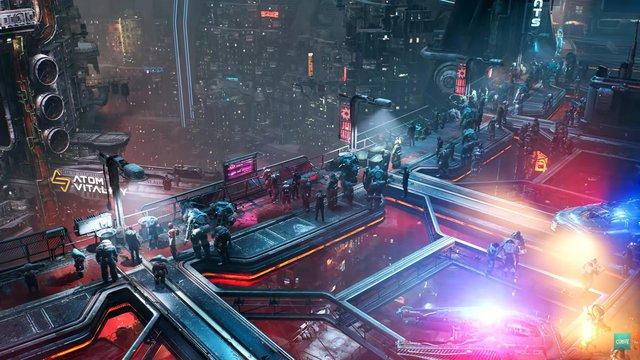 Xuất hiện Cyberpunk 2077 phiên bản góc nhìn từ trên xuống, đẹp không kém gì bản gốc - Ảnh 1.