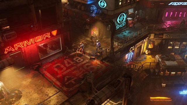 Xuất hiện Cyberpunk 2077 phiên bản góc nhìn từ trên xuống, đẹp không kém gì bản gốc - Ảnh 4.