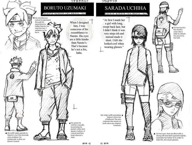 Boruto: Vì sao Sarada để tóc ngắn hay Boruto chỉ có 2 râu, lý do đã được tác giả Kishimoto giải thích - Ảnh 1.