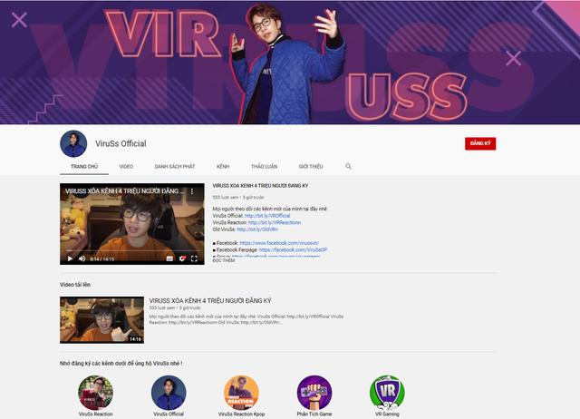 ViruSs xóa kênh YouTube 4 triệu subs: Sự thật hay trò đùa 1/4? - Ảnh 3.