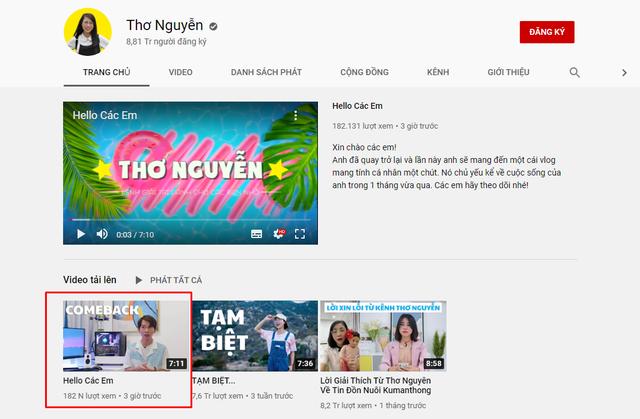 Kênh YouTube Thơ Nguyễn thông báo sắp quay trở lại, hướng tới cột mốc nút kim cương 10 triệu subs - Ảnh 1.