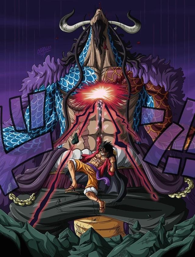 Ấn tượng với cú móc hàm của Luffy khiến Kaido gục ngã, các fan bỗng nhiên nhắc đến trận chiến trong Naruto - Ảnh 1.