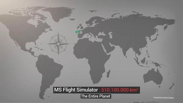 So sánh độ rộng của bản đồ trong game, Microsoft Flight Simulator giành top 1 - Ảnh 2.