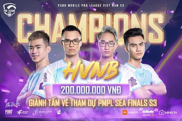 Lên ngôi ngay trong lần đầu tham dự PUBG Mobile Pro League, HVNB khẳng định vị thế số 1 tại đấu trường quốc nội - Ảnh 1.