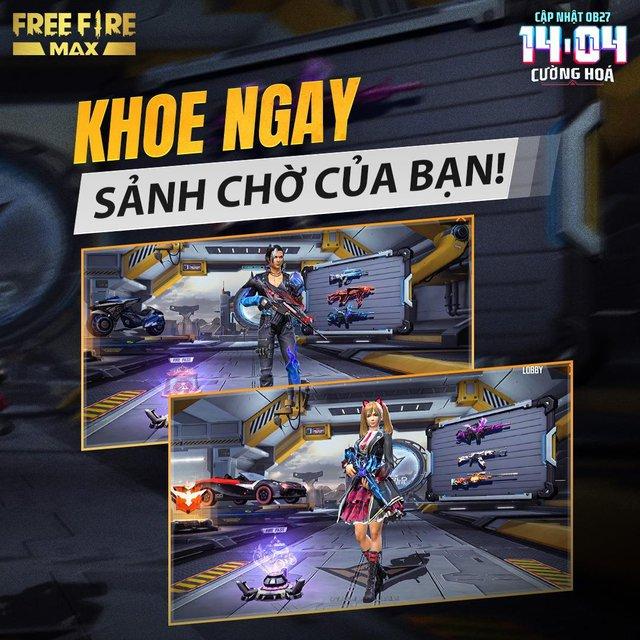 Sảnh chờ Free Fire Max OB27 khiến tất cả ngỡ ngàng với sự xuất hiện của Kaity Nguyen - Ảnh 7.