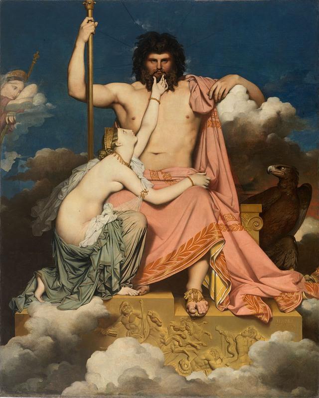 thần Zeus trong thần thoại Hy Lạp lại có nhiều người tình Jc3bapiterytetispordominiqueingres-1619604122375491068423