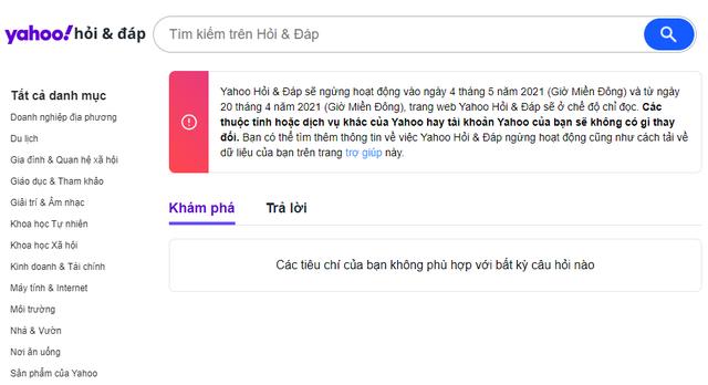 Huyền thoại Yahoo Hỏi & Đáp chính thức đóng cửa, cả một bầu trời tuổi thơ khép lại - Ảnh 1.