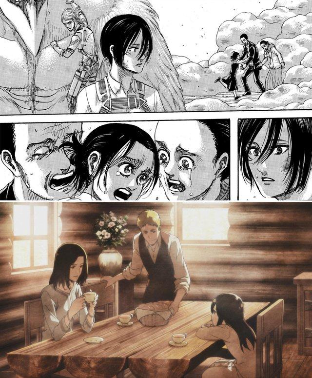 Spoil Attack On Titan chap cuối: Eren chết, Levi tàn tật còn Mikasa quấn quýt bên con chim lớn - Ảnh 4.