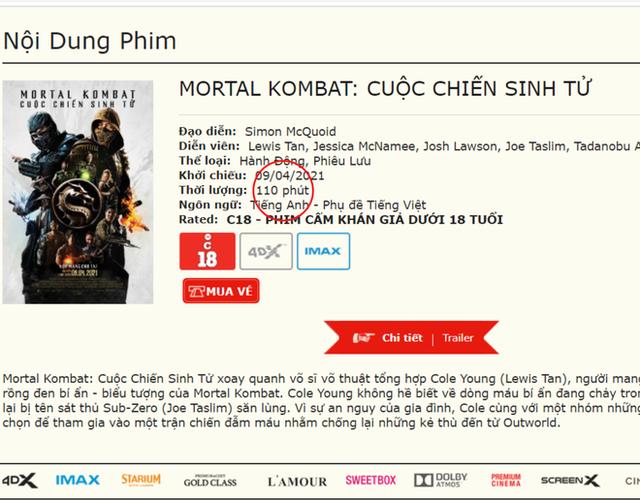 Rộ tin bom tấn bạo lực Mortal Kombat được chiếu bản full không cắt ở Việt Nam nhưng dán nhãn 18+, thực hư thế nào? - Ảnh 3.