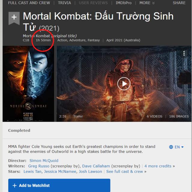Rộ tin bom tấn bạo lực Mortal Kombat được chiếu bản full không cắt ở Việt Nam nhưng dán nhãn 18+, thực hư thế nào? - Ảnh 4.