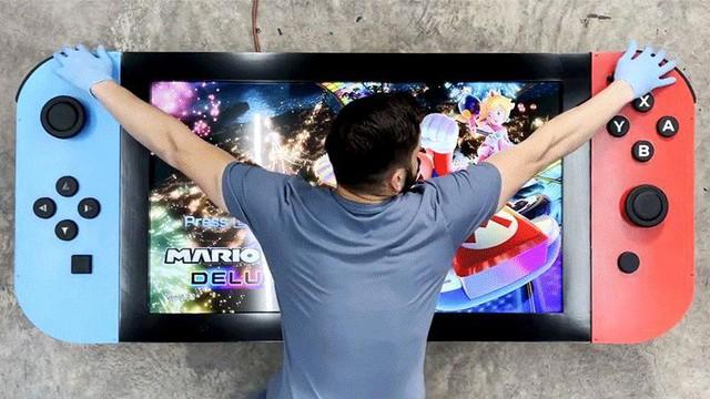 Game thủ tạo ra phiên bản siêu to khổng lồ của Nintendo Switch - Ảnh 2.