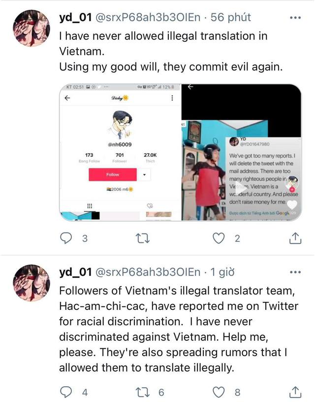 Vừa tuyên bố khởi kiện nhóm dịch lậu Việt Nam, tác giả webtoon 18+ lập tức bị... report bay tài khoản MXH - Ảnh 2.