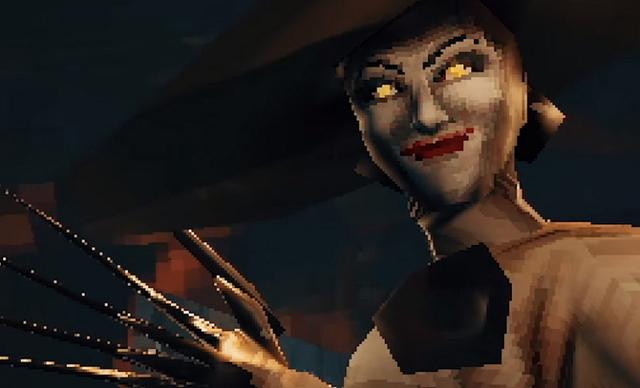 Sẽ thế nào nếu Resident Evil Village có phiên bản PS1, nhìn Lady Dimitrescu thế này mới đúng là kinh dị - Ảnh 2.