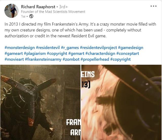 Nhà làm phim tố Capcom sử dụng trái phép thiết kế của mình trong Resident Evil Village - Ảnh 3.
