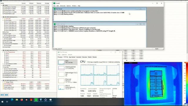 """Mời các bạn cùng chiêm ngưỡng CPU Intel Core i5-11400 """"bốc cháy"""" trước khi hy sinh anh dũng vì mục đích… khoa học - Ảnh 1."""