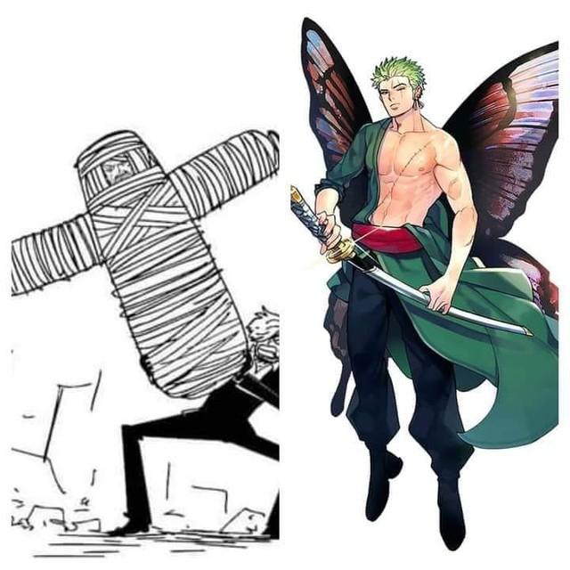 Kỳ vọng con cưng quay trở lại, các fan One Piece tạo ra bức ảnh Zoro phá kén cực kỳ bắt mắt - Ảnh 2.