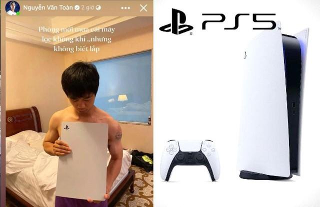 Văn Toàn chia sẻ hình ảnh Công Phượng mới mua máy lọc không khí PS5 - Ảnh 1.