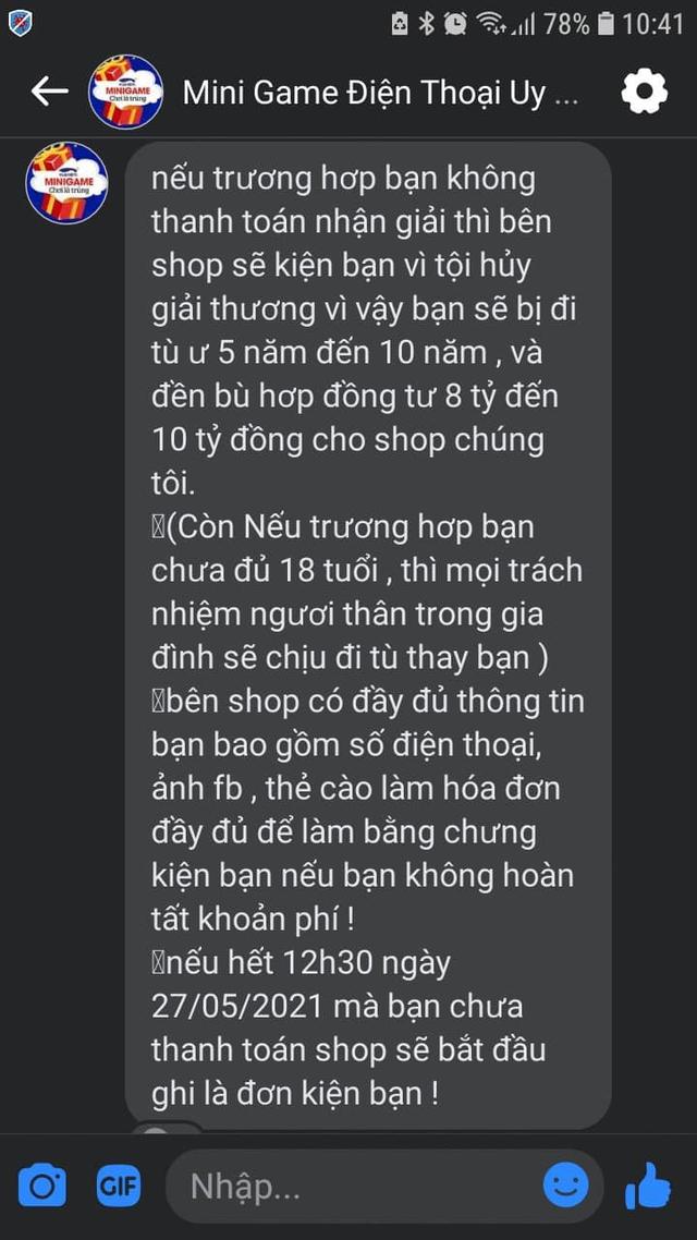 Thiếu nữ trộm tiền mẹ để nộp tiền nhận giải minigame trên MXH nếu không sẽ bị đi tù, dọa bỏ tù cả người thân - Ảnh 2.