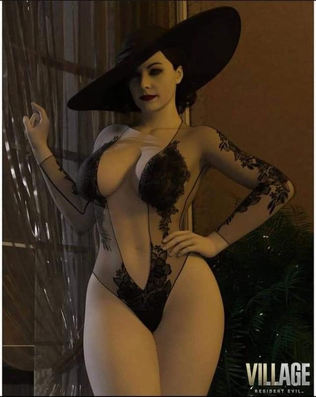 Game thủ Việt chia sẻ ầm ầm phiên bản Lady Dimitrescu cực kỳ sexy, gợi cảm đúng chất 18+ - Ảnh 2.