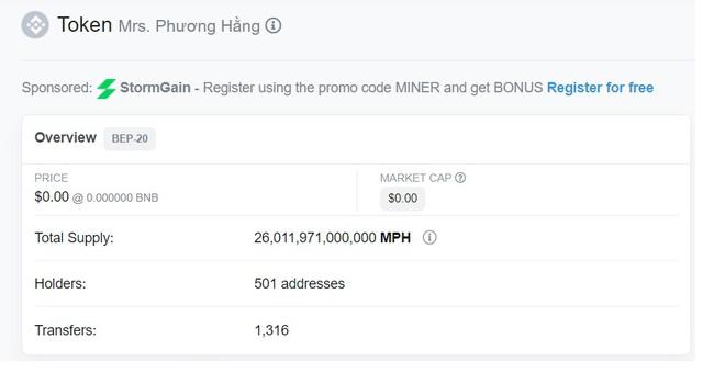 Bất ngờ xuất hiện loại tiền ảo mang tên bà Phương Hằng, tổng số lượng coin lên tới 26.000 tỷ - Ảnh 2.