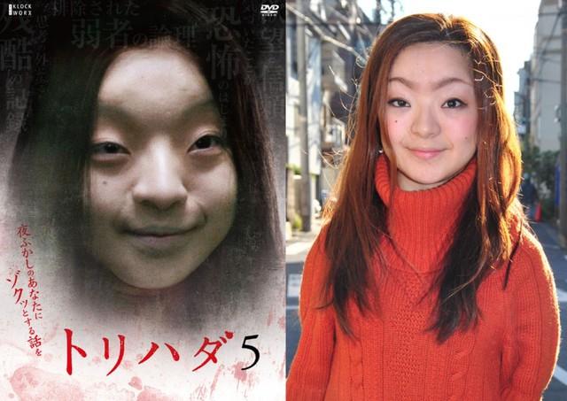 CĐM phát hãi với nhân vật cô gái váy đỏ đứng bốt điện thoại trong phim Nhật Bản, nhìn cái mặt đã muốn ói - Ảnh 1.