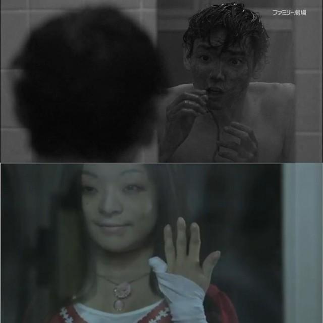 CĐM phát hãi với nhân vật cô gái váy đỏ đứng bốt điện thoại trong phim Nhật Bản, nhìn cái mặt đã muốn ói - Ảnh 4.