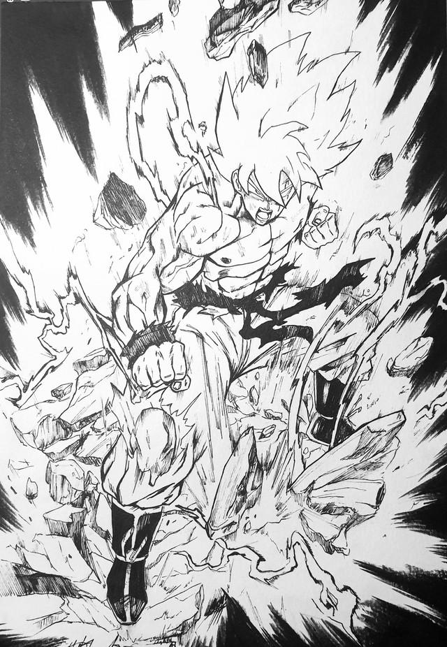 Các nhân vật trong Dragon Ball được vẽ bởi tác giả One Punch Man sẽ ngầu như thế nào? - Ảnh 1.
