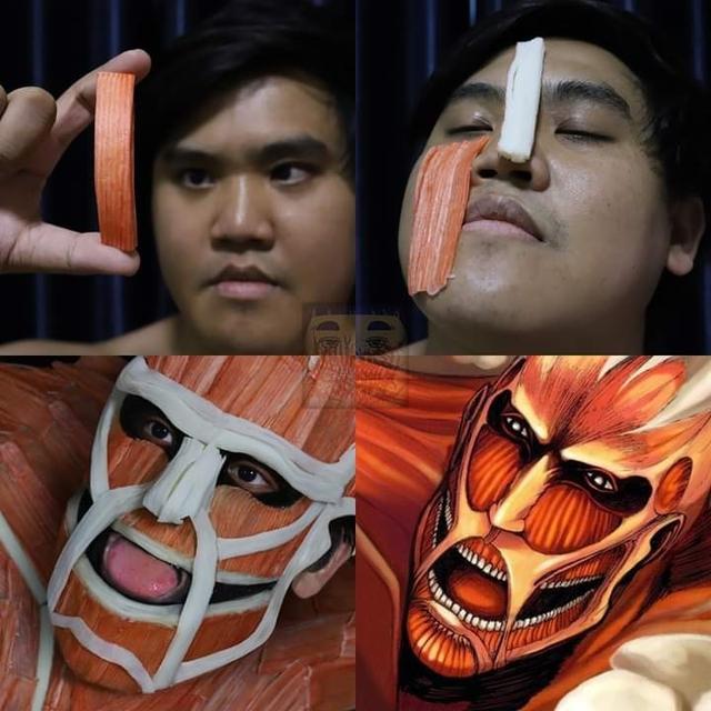 Attack on Titan: Ngắm cosplay Titan siêu lầy lội của anh chàng Thái Lan Low Cost Cosplay mà được khai nhãn - Ảnh 3.