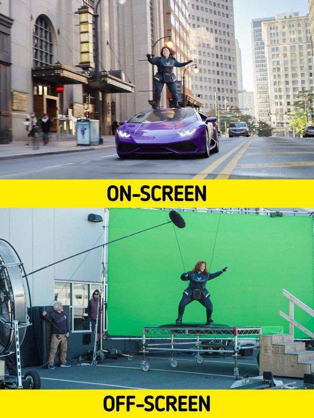 17 bức ảnh hậu trường phim Hollywood vén màn bí mật đằng sau các cảnh quay lừa hàng triệu khán giả - Ảnh 2.