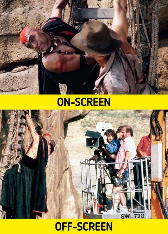 17 bức ảnh hậu trường phim Hollywood vén màn bí mật đằng sau các cảnh quay lừa hàng triệu khán giả - Ảnh 16.