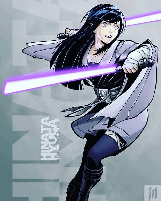 Lạ lẫm khi thấy các ninja trong Naruto tay cầm kiếm ánh sáng theo phong cách Star Wars - Ảnh 4.