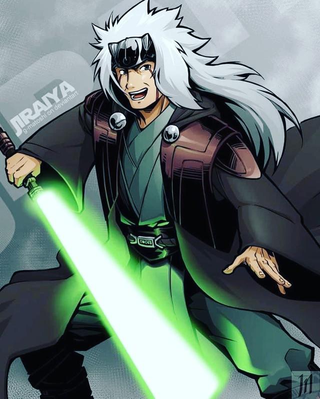 Lạ lẫm khi thấy các ninja trong Naruto tay cầm kiếm ánh sáng theo phong cách Star Wars - Ảnh 5.