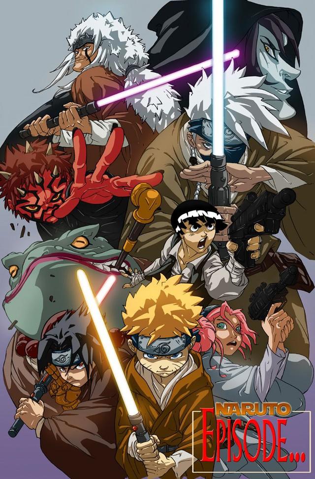 Lạ lẫm khi thấy các ninja trong Naruto tay cầm kiếm ánh sáng theo phong cách Star Wars - Ảnh 8.
